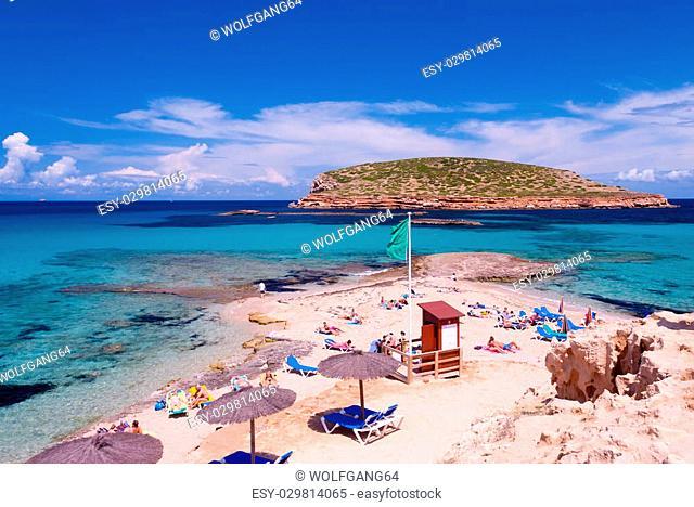 Beautiful Beach on the Island Ibiza