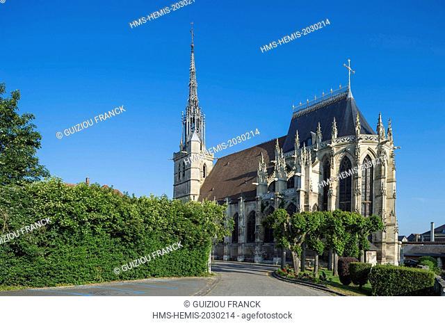 France, Eure, Conches en Ouche, church Sainte Foy