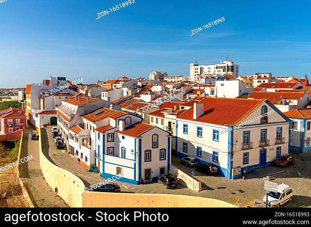 Sines, Portugal - 20 December 2020: view of the old city center of Sines