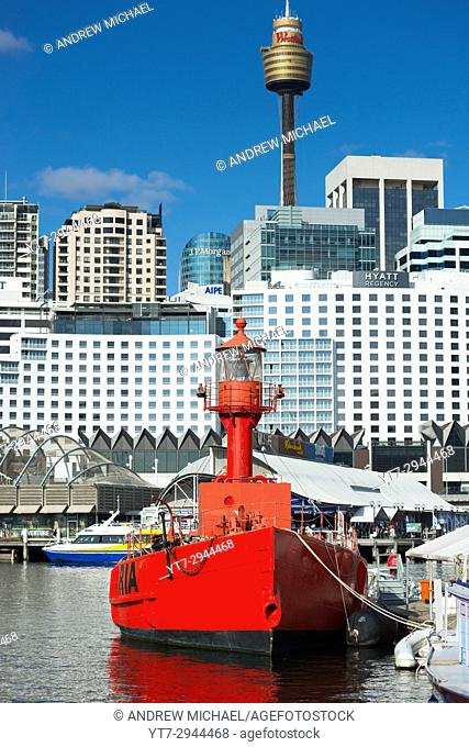 Carpentaria Lightship at the Sydney Maritime Museum in Darling Harbour, Australia