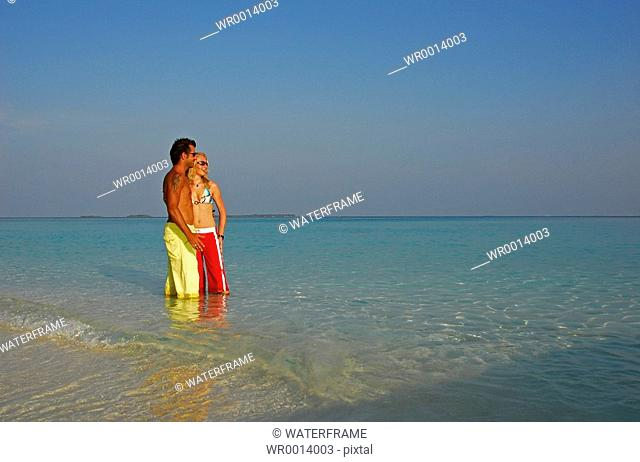 Walk on the Beach, Indian Ocean, Maldives