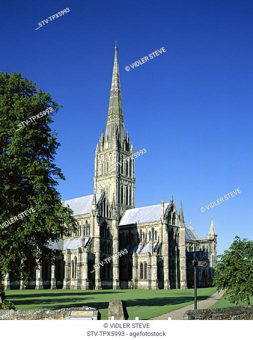 Cathedral, England, United Kingdom, Great Britain, Holiday, Landmark, Salisbury, Tourism, Travel, Vacation, Wiltshire