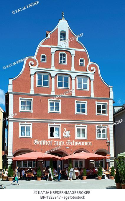 Gasthof zum Schwanen, Swan Hotel, Memmingen, Allgaeu, Bavaria, Germany, Europe