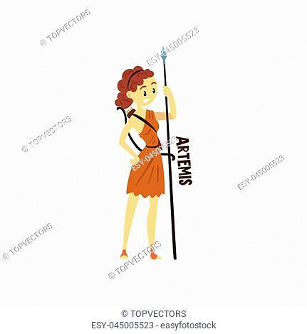 Greek Goddess Artemis Cartoon Stock Photos And Images