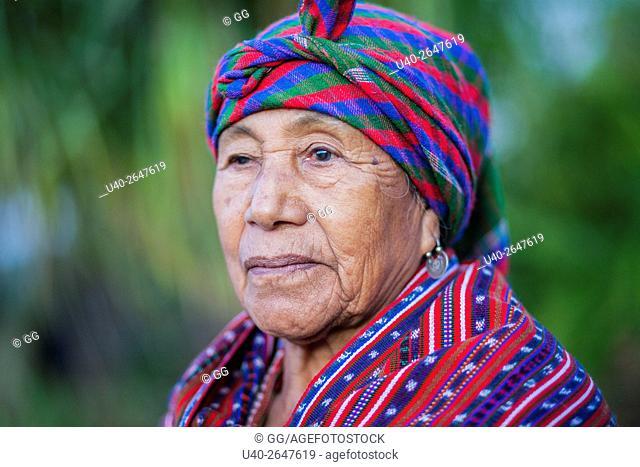 Guatemala, Portrait of a Mayan grandmother