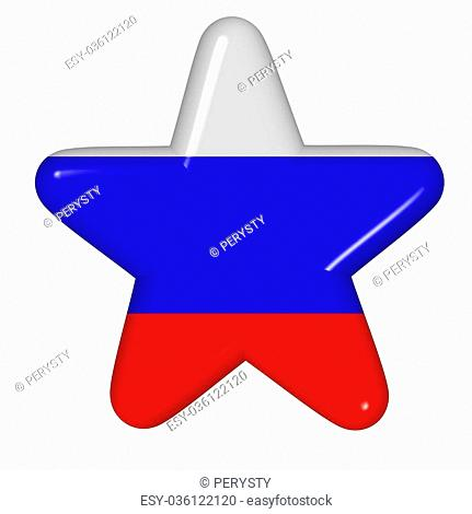star in colors of Russia