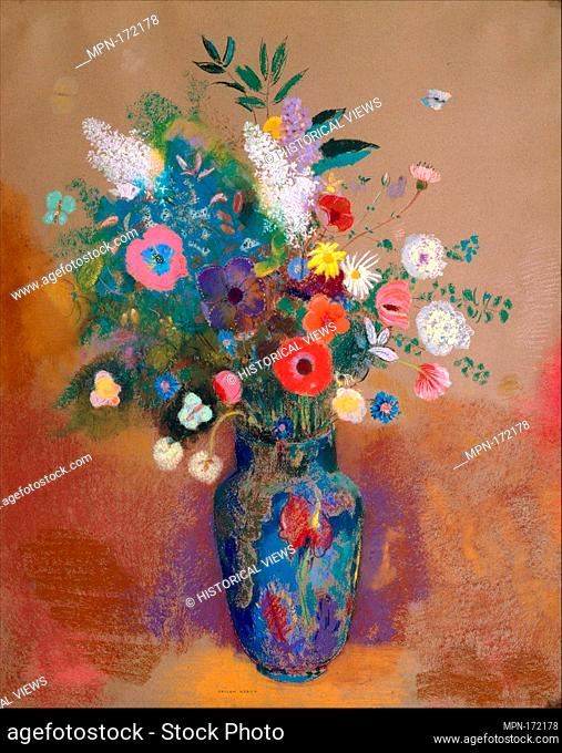 Bouquet of Flowers. Artist: Odilon Redon (French, Bordeaux 1840-1916 Paris); Date: probably ca. 1905; Medium: Pastel on paper; Dimensions: 31 5/8 x 25 1/4 in