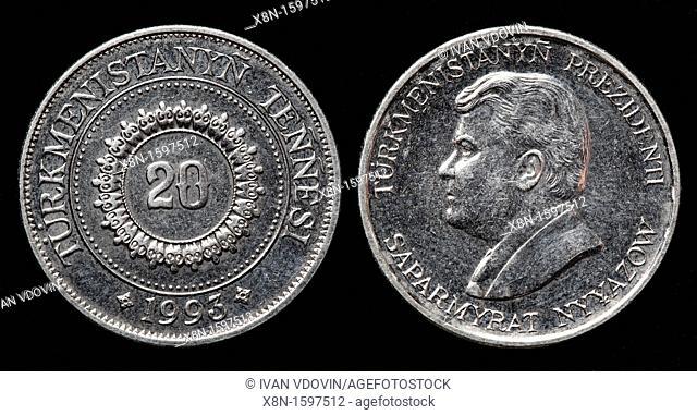 20 Tenge coin, Turkmenistan, 1993