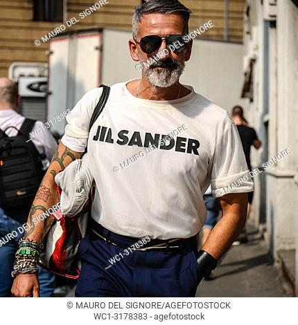 MILAN, Italy- September 19 2018: Saverio Trapani on the street during the Milan Fashion Week