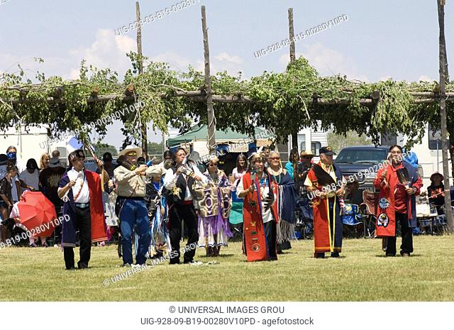 A Gathering Of North America'S Native People, Meeting To Dance, Sing, Socialize And Honor American Indian Culture At Taos Pueblo, New Mexico