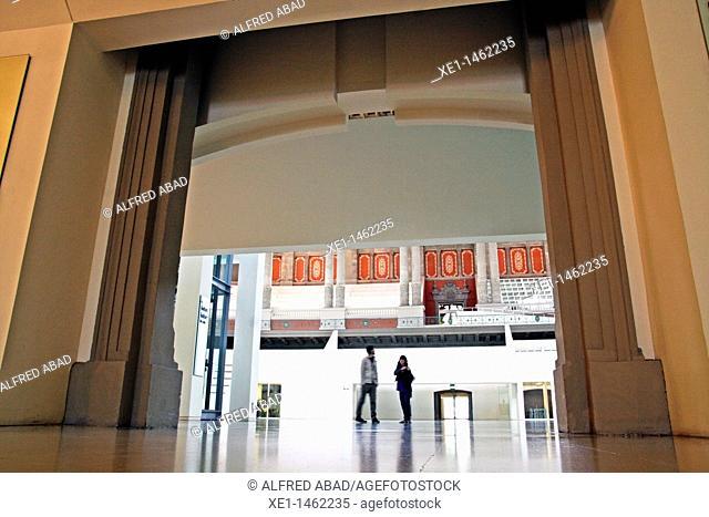 entrance Oval hall, Palau Nacional, Museu Nacional d'Art Catalunya, MNAC, Barcelona, Catalonia, Spain
