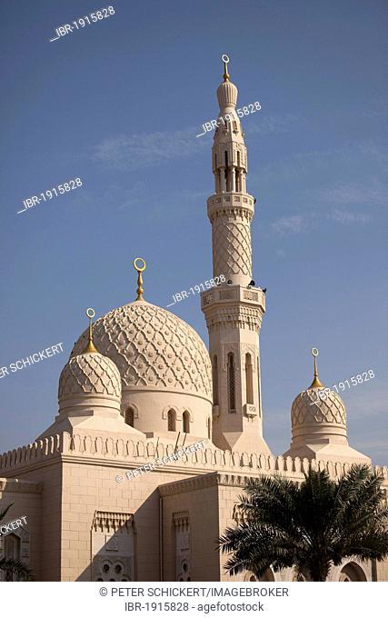 Jumeirah Mosque, Dubai, United Arab Emirates, Middle East, Asia