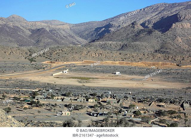 Landscape of Jebel Shams, a mountain range in central Oman, Oman, Arabian Peninsula, Middle East, Asia