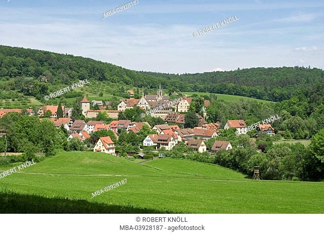 Germany, Baden-Württemberg, Tübingen, cloister Bebenhausen, locality perspective, district, Schönbuch, cloister, cloister-installation, forest, Cistercian