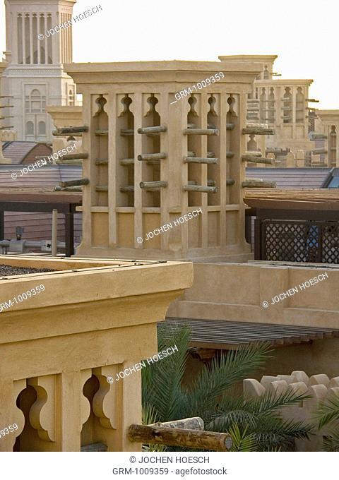 Traditional Arabian Windtower in Madinat Jumeirah, Dubai, UAE