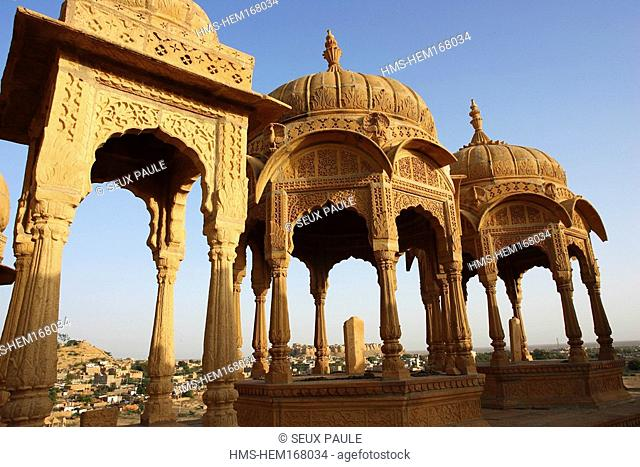 India, Rajasthan State, Jaisalmer, Maharajas' cenotaphs