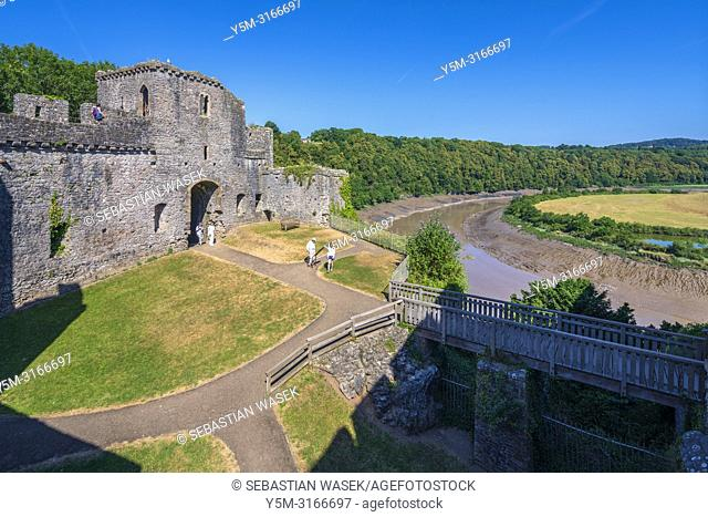 Chepstow Castle, Monmouthshire, Wales, United Kingdom, Europe
