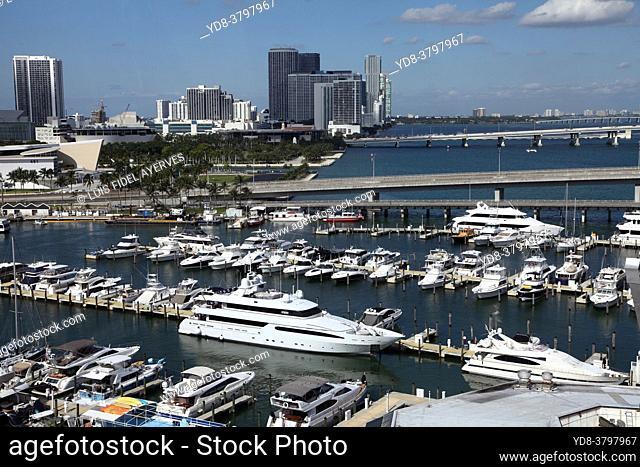 Panoramic view of Downtown Miami, Florida, USA. It is also known as Downtown Miami; it is a downtown located around the Financial District of Miami, Florida