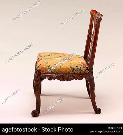 Side chair (one of a pair). Date: ca. 1735-40; Culture: British; Medium: Mahogany; Dimensions: 36 x 26 x 25 1/2 in. (91.4 x 66 x 64