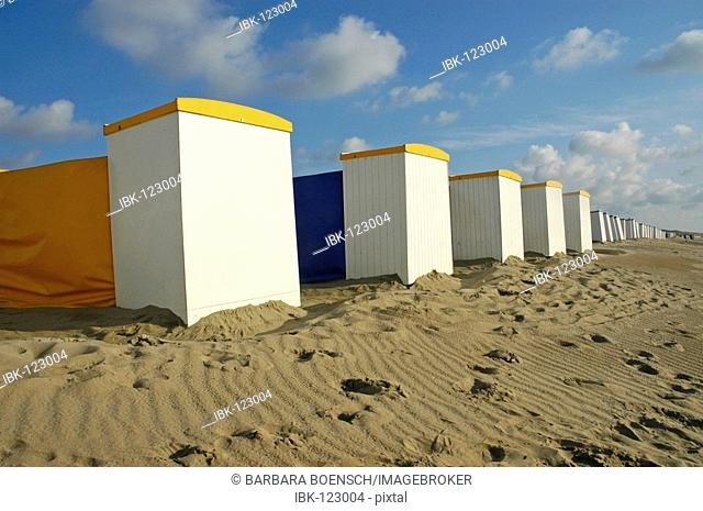 Beach chairs with wind protection, Katwijk aan Zee, South Holland, Holland, The Netherlands