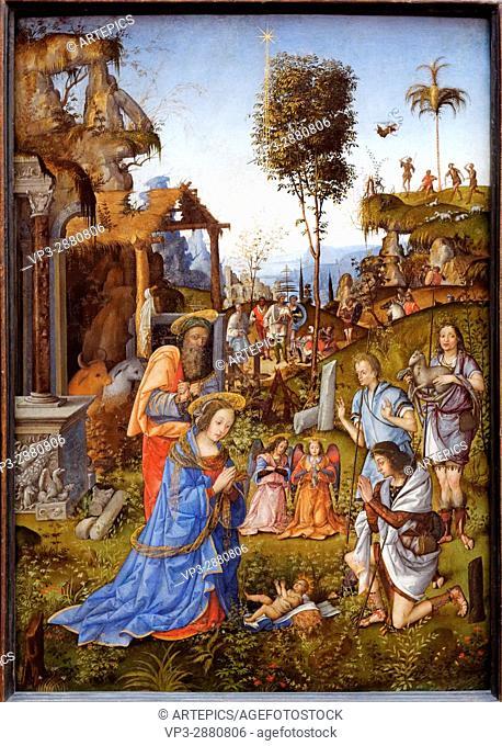 Amico Aspertini- The Adoration of the Shepherds - 1496 - XV th Century - Italian School - Gemäldegalerie - Berlin