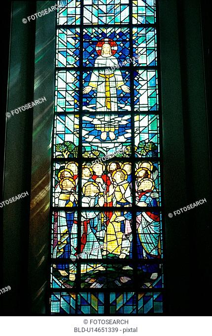 church, interior, christianity, catholicism, stainedglass, film