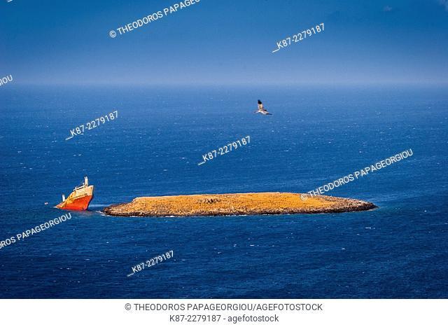 The Nordland shipwreck (year 2000). Diakofti, Kythera island, Greece