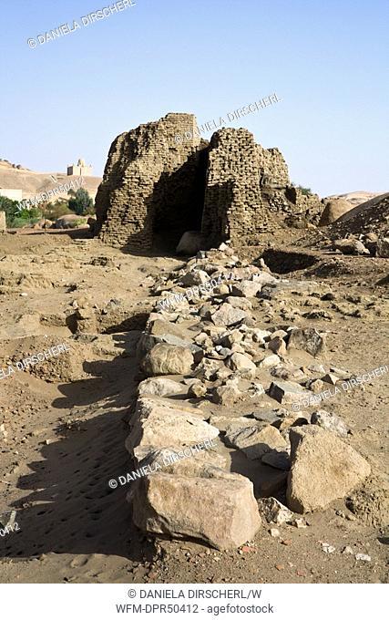 Excavations on Elephantine Island, Aswan, Egypt