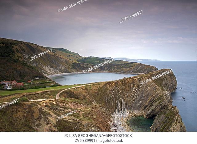Lulworth Cove, West Lulworth, Jurassic Coast, Dorset, Uk