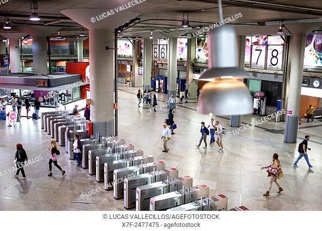 Atocha railway station, Madrid, Spain