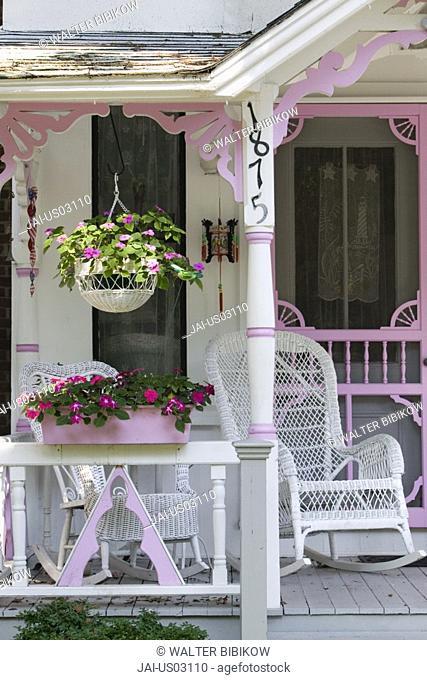 Gingerbread House, Oak Bluffs, Martha's Vineyard, Massachusetts, USA