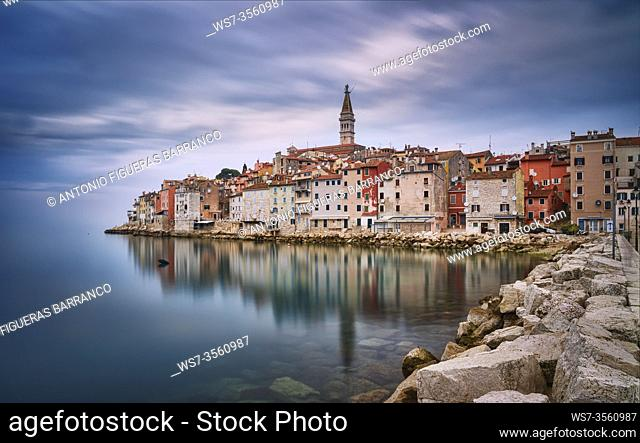 View of the old town of Rovinj