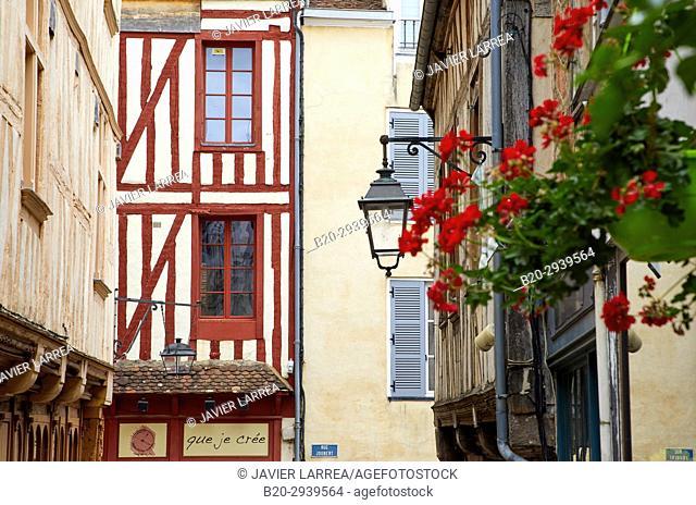 Rue Joubert, Auxerre, Yonne, Burgundy, Bourgogne, France, Europe