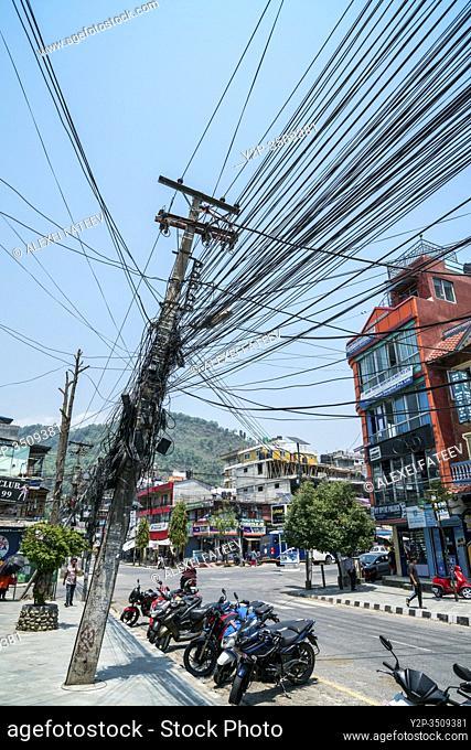 A street in Pokhara, Nepal