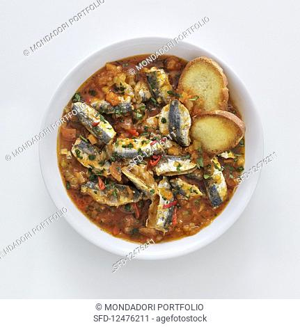 Anchovy soup with chillis (Italy)