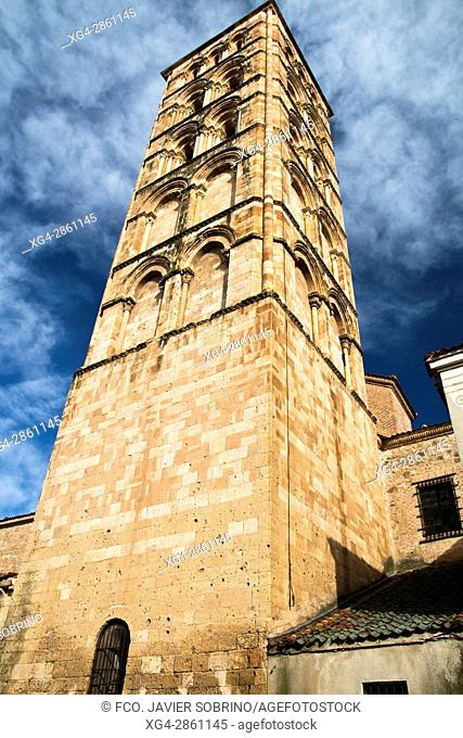 Bell tower of the Romanesque church of San Esteban - XIII Century - Segovia - Castilla-León - Spain - Europe