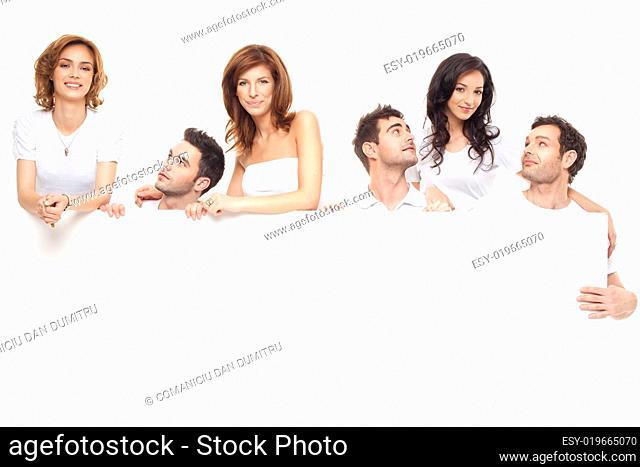 happy ad friends