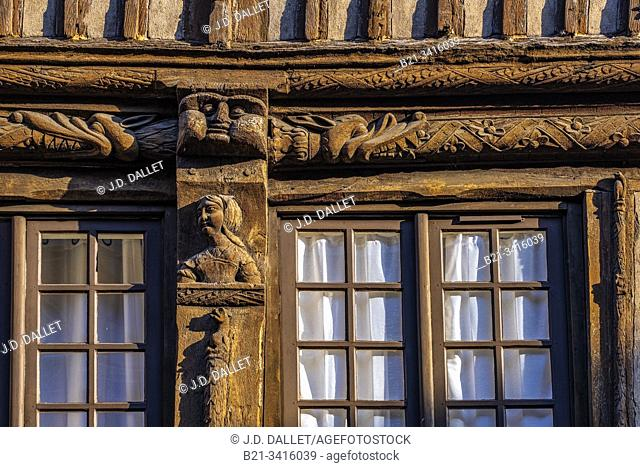 France, Normandy, Eure, 14th century house at Bernay