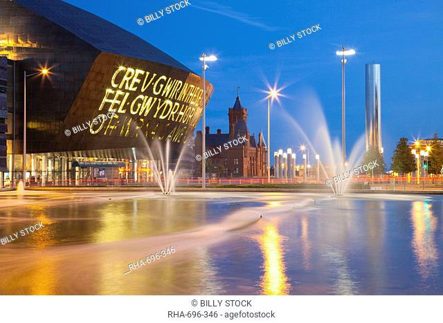 Millennium Centre, Cardiff Bay, Cardiff, South Wales, Wales, United Kingdom, Europe