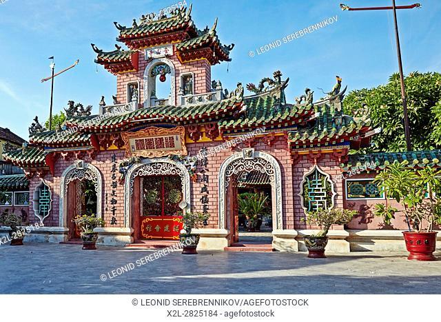 Entrance Gate to Fujian Assembly Hall (Phuc Kien). Hoi An Ancient Town, Quang Nam Province, Vietnam
