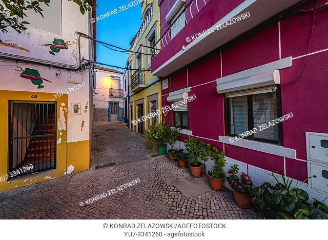 Buildings in Moita town, Setubal District in Portugal
