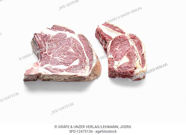 Dry and wet-aged beef steak