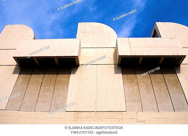 Architectural detail, Fundacio Joan Miro - Joan Miro Foundation, Barcelona, Catalonia, Spain