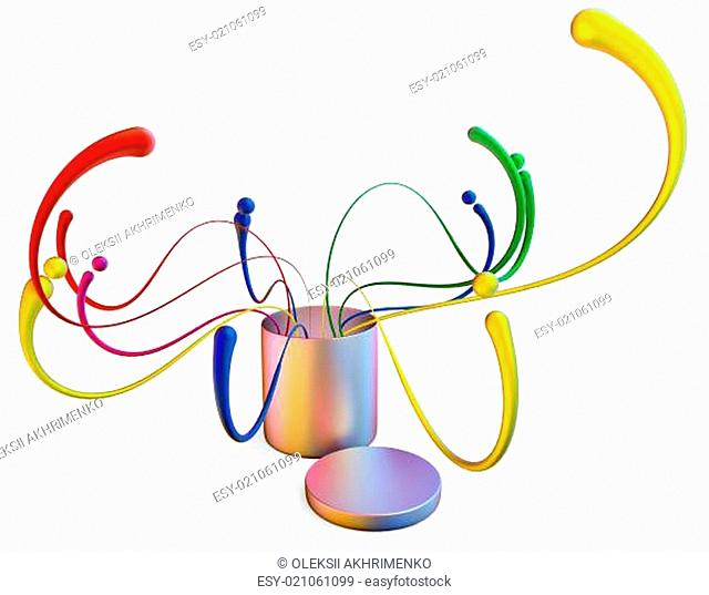 abstract concept background with design elements