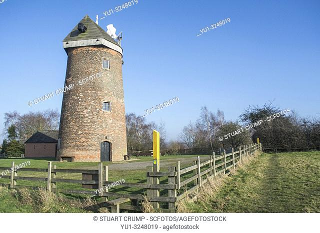 Hough Mill originally known as Thringstone Mill in the Leicestershire countryside