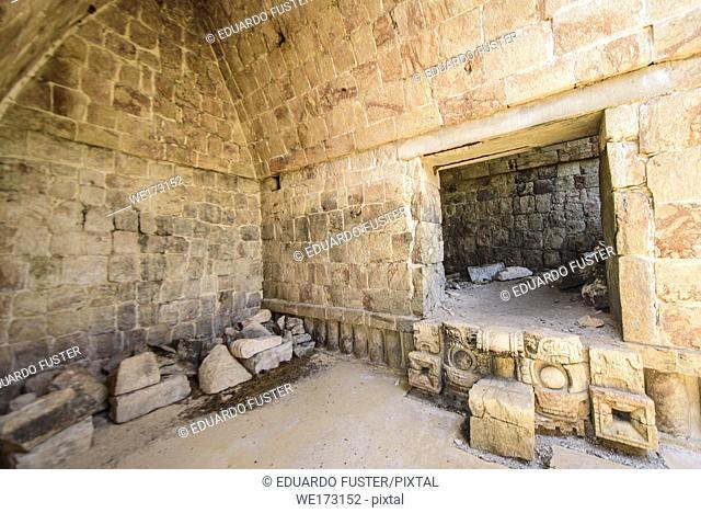 Interiors of the ruins at Kabah, Yucatan Peninsula, Mexico