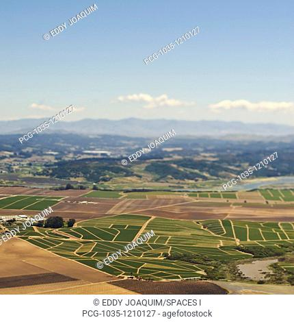 Farmland and Mountains in the Distance