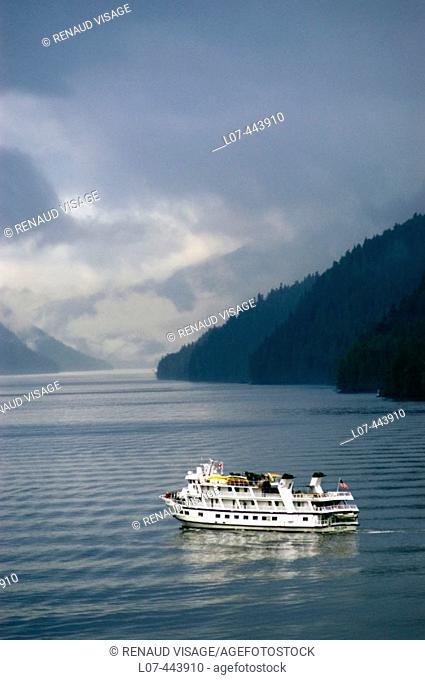 Fishing boat on the Inside Passage. Alaska. United States
