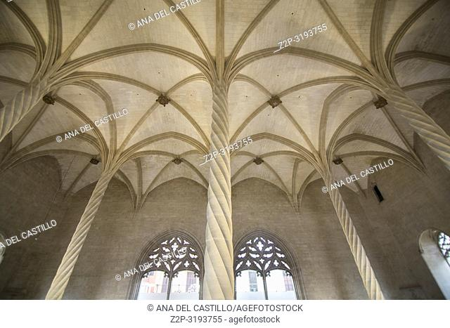 The Lonja is a gothic building at Palma de Majorca Balearic islands Spain