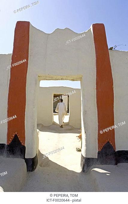Sudan, Eastern Sahara, Sesebi, village built in adobe
